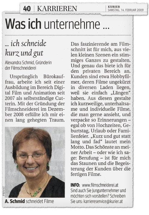 Filmschneiderin Alexandra Schmid